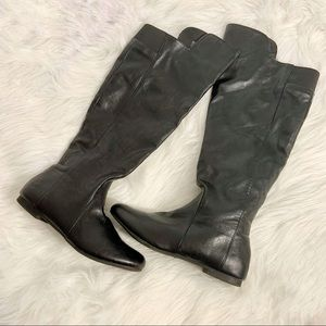 Black knee high boots size 8 1/2